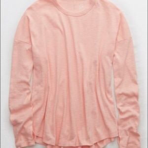 Aerie REAL SOFT pink tee size M // 1711
